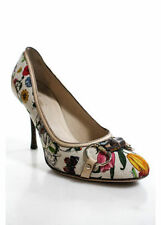 GUCCI Limited Edition Floral Bamboo Horse-bit Shoes 6.5B UK4