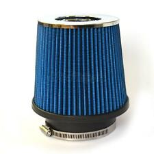 3Inch Chrome Inlet Short Ram Cold Air Intake Round Cone Air Filter Blue