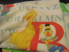 Vintage Sesame Street Alphabet Twin Bed Sheet  Big Bird Bert And Ernie More
