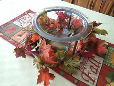 Partylite Tabletop Seville Candle Holder Holiday Vase Bowl P0273 Recycled Glass