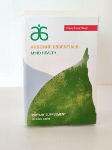 Arbonne Essentials MIND HEALTH CHERRY LIME Flavor- 30 Sticks Exp 08/22