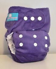 Grape Purple Minky Pocket Nappy 4-16kg
