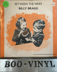 """Billy Bragg - Between The Wars - original 4-track 7"""" vinyl EP 1984 Go! Discs  Ex"""