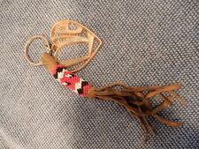 Bead & Suede Tassel Key Chain