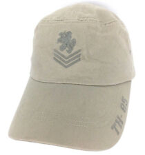 Vtg Tommy Hilfiger Hat Military Logo Cap Flat Top Baseball Trucker Fitted Beige