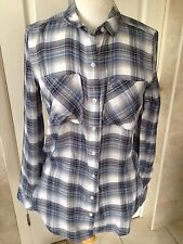 Abercrombie & Fitch Ladies Blue Check Long Sleeve Shirt Size XS Great Condition.