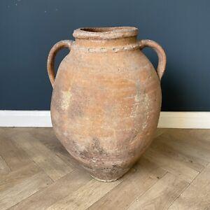 Antique Large Pot Rare Pottery Big Olive Oil Jar Pots Terracotta Old Amphora