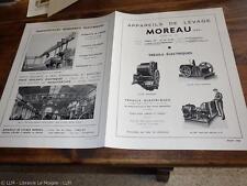 1935.Publicité appareils de levage Moreau (treuil monte-charge).