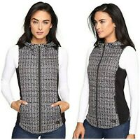 NEW! The North Face Women's Thermoball Hooded Vest Black Lace Print Sz Small