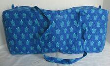 Vera Bradley Large Traveler Duffel Bag Marine Turtles Blue Overnight Tote