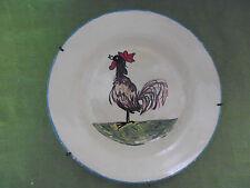 ancienne assiette céramique faience motif coq DIGOIN mi XXe