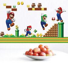 Super Mario Bros Mural DIY Wall Decals Sticker Kids Room Decor Removable Vinyl