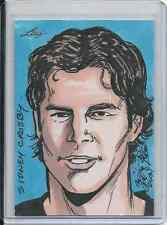 Sidney Crosby 2013 Leaf Best Of Hockey 1/1 Sketch Card By Brian Kong Autograph