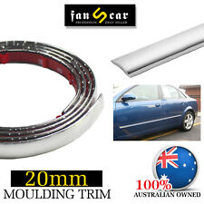 Adhesive Strip Chrome Styling Moulding Trim Car Window Roof Protector 20mm x 4M