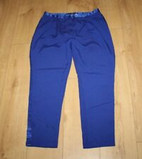 Blue Fabric ATMOSPHERE Zip Low Rise Tapered Party Casual Trousers Sz 14/ 44 L 28