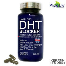 DHT BLOCKER All Natural Ingredients Prevent Hair Loss contain Saw Palmetto Oil