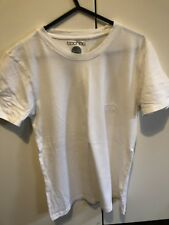 Boohoo Muscle Fit Small Tshirt Plain White With Man Logo