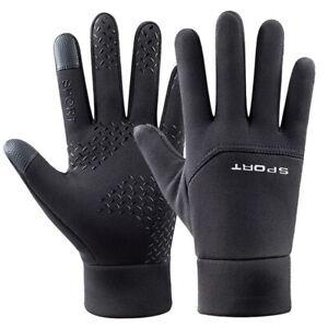 Windproof Thermal Fleece Gloves Touchscreen Winter Warm Mitten Cycling Women Men