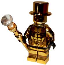 **NEW** LEGO Custom CHROME Printed - MR. GOLD DEADPOOL - (Series 10) Minifigure