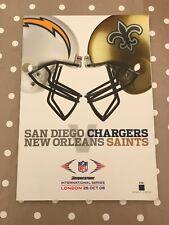 NFL International Series Programme Game 2 2008 Chargers vs Saints