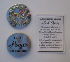 t I said a prayer for you hummingbird BLESSED BEYOND MEASURE Pocket Token Charm
