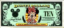 New Disney Dollars 1995 A $10 Ten Dollar Minnie Mouse Small World Uncirculated