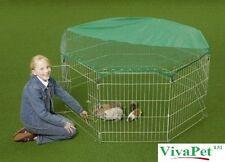 Large Pet Cage Metal Folding Outdoor Playpen Octagon Run Rabbit Guinea Pig Dog