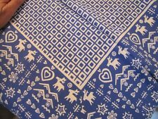 """Beautuful vintage tablecloth never been used Cotton 90"""" X 57"""" deer heart"""
