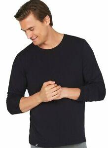 Bamboo clothing men's Long Sleeve T shirt Teeshirt  Small  black  NEW