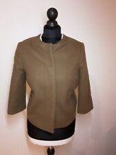 cos short womens Wool tan camel Brown wool jacket size EUR 36