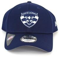 New Era Geelong Cats Team 9Forty Hat Genuine Cap In Navy
