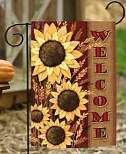 Toland Welcome Sunflowers 12.5 x 18 Colorful Flower Fall Autumn Garden Flag