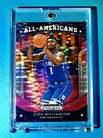 Zion Williamson RARE PINK REFRACTOR ROOKIE PANINI PRIZM INSERT ALL AMERICANS RC