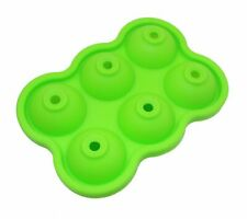 Green 6 Cavity Silicone Round Ice Cube Tray,Ice Ball Maker,Resistan(-40°C~240°C)