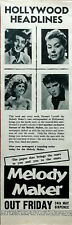 More details for dean martin, elvis presley melody maker that brings you the stars advert 1957