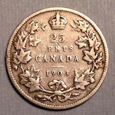 1903 Canada  Edward VII  25 Cents