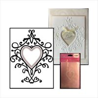 Heart Swirls Cut and Emboss Folder Nellie Snellen embossing folders HSEFD003