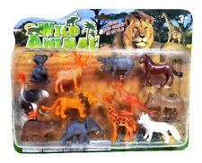 Wildtiere 12 x Spielfiguren figuren Löwe Strauß Nilpferd Känguru Giraffe tiere