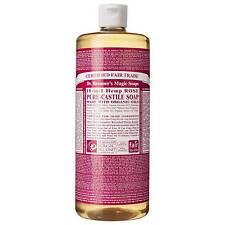 Dr Bronner's 946 Ml Organic Rose Castile Liquid Soap 946ml Book