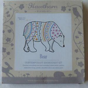 Hawthorn Contemporary Embroidery KIT - Bear.  Inc. hoop.  RRP £15