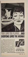 1962 Print Ad Half and Half Pipe Tobacco Lady Admires Man Smoking Pipe