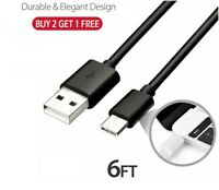 6 Feet USB C Type-C Cable Fast Charger Type C 3.1 Data Sync Charging Cable Cord