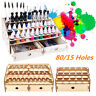 15/80 Holes Wooden Paint Rack Pigment Ink Bottle Storage Organizer Drawer Holder