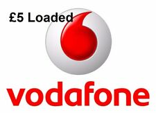 £5 Loaded Vodafone 3 in 1(Standard+Micro+Nano) Pay As You Go SIM Card.