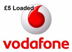 £5 Loaded Vodafone 3 in 1(Standard+Micro+Nano) Pay As You Go SIM Card.