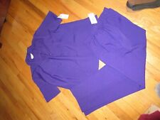 Women's Bon Worth Purple Pant Suit Top XS Pants S NWT