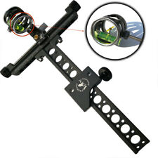 "Archery Compound Bow Sight 1 Pin 0.059"" Micro Adjust Long Pole Hunting 4X lens"