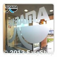 610mm Ritrama Window Glass Etched Effect Sign Vinyl Self Adhesive 5 Year Film
