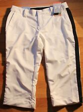 Under Armour White with Black Side Strip  Golf Capris Size 10