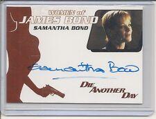 James Bond Mission Logs WA38 Samantha Bond auto card